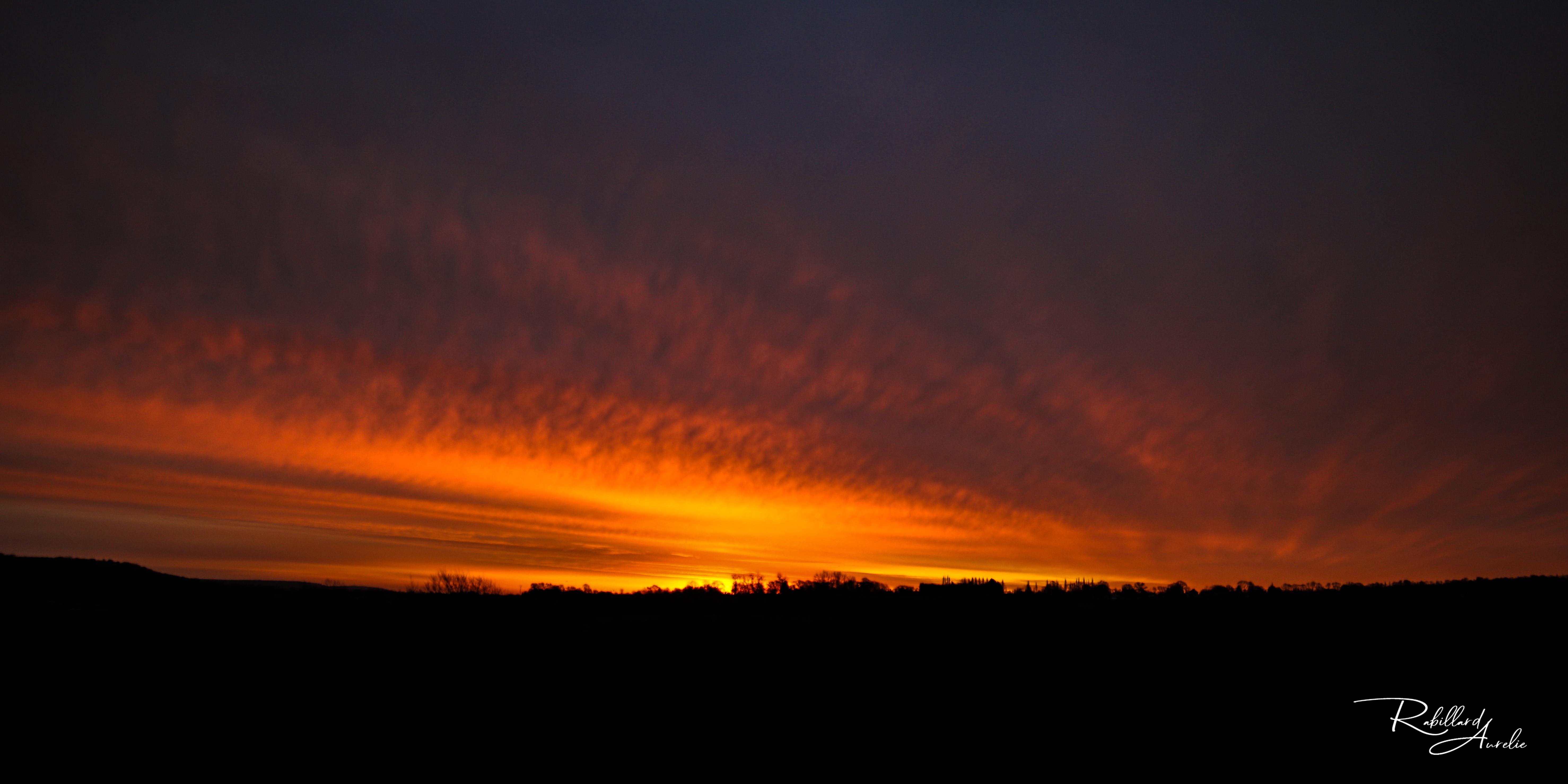 contre jour lumière couleur nature paysage lever coucher de soleil