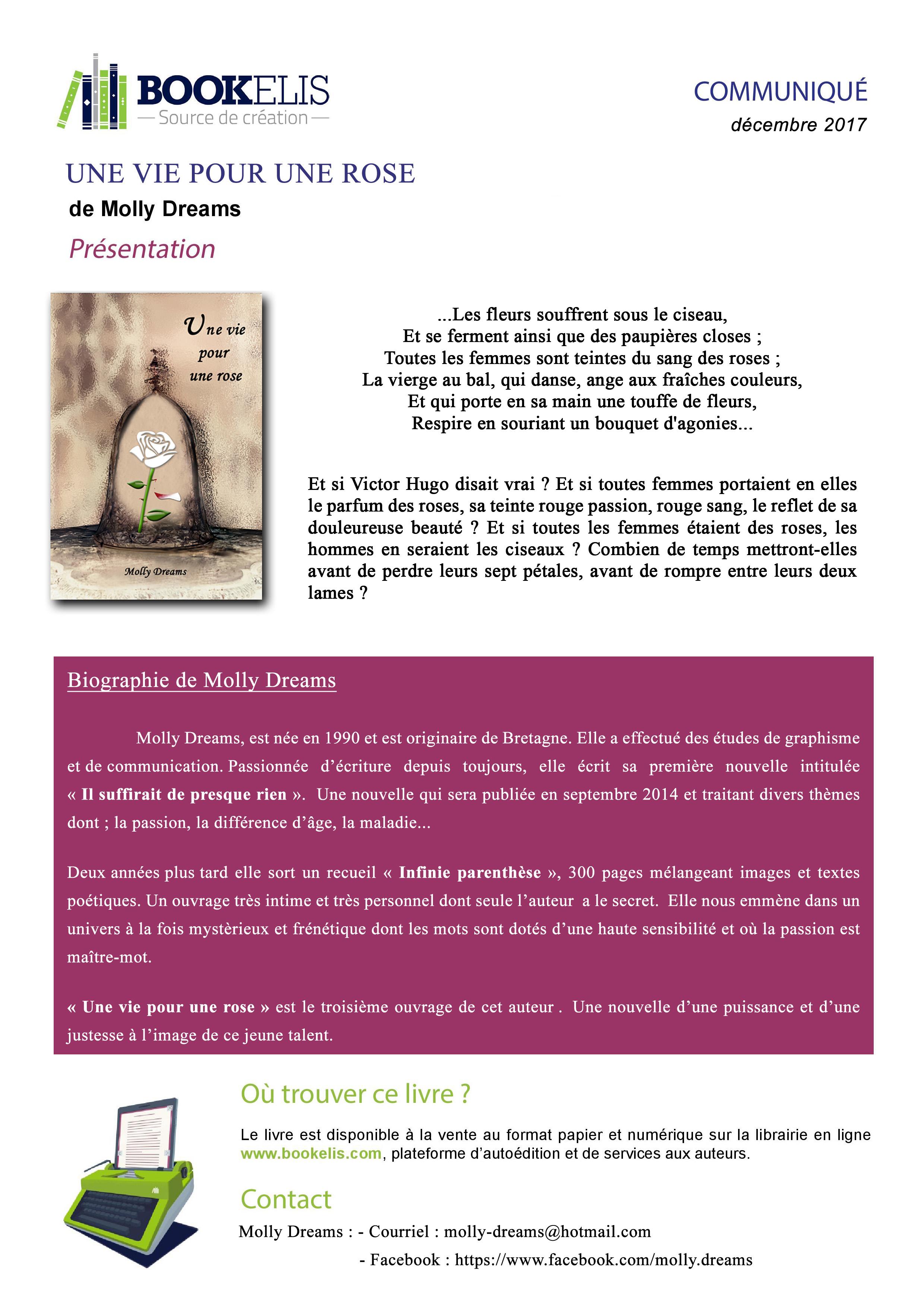 Molly-Dreams-il-suffirait-de-presque-rien comete amour livre auteure france normandie villers sur me