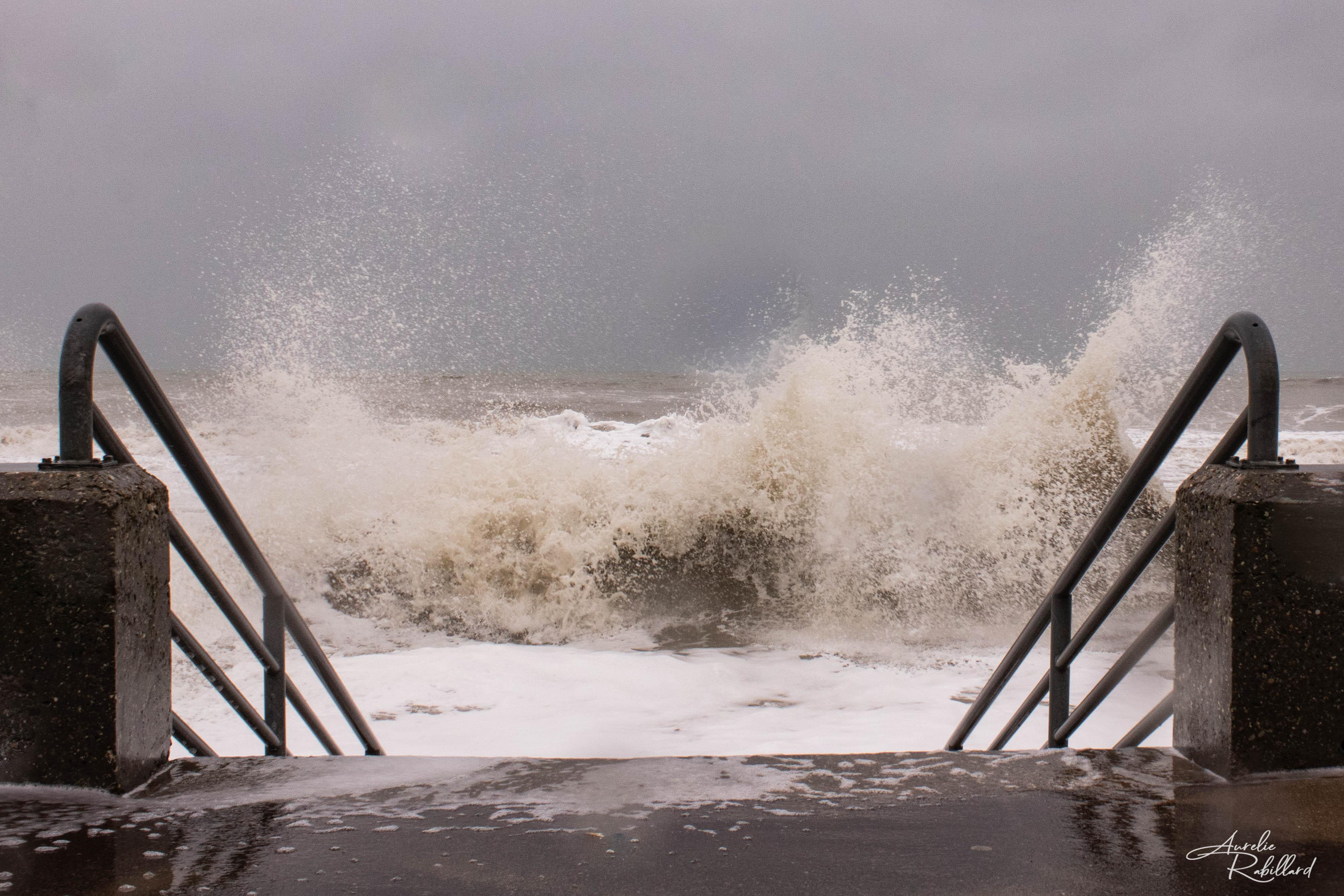 tempete vague houle nature paysage beauté vie photos calavados 14 normandie villers sur mer Molly de