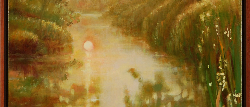 Bingham_Carol  , Day Break on the South Fork, framed.jpg