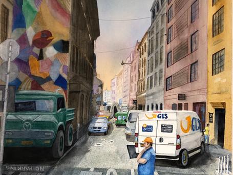 Budapest Street Worker