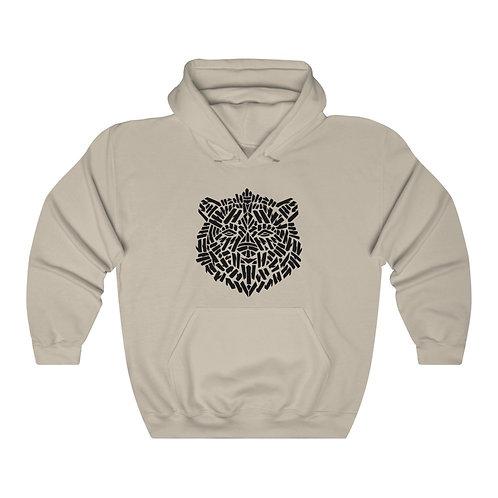 Brown Bear Stencil (front) / Mind's Eye (back) Unisex Heavy Blend™ Hoodie