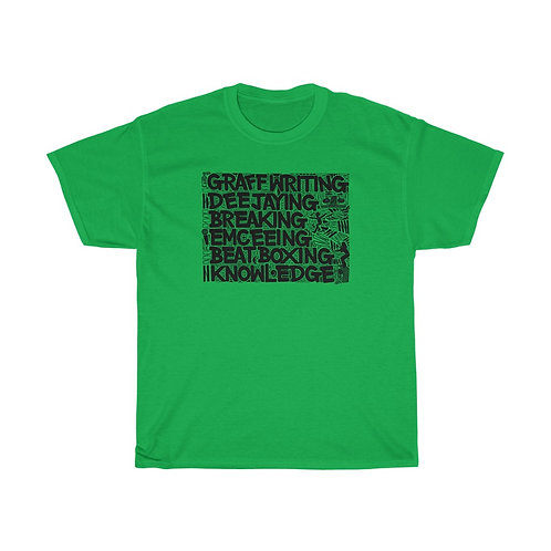 Elements Of Hip Hop (front) / Mind's Eye (back) - Unisex Heavy Cotton T-Shirt