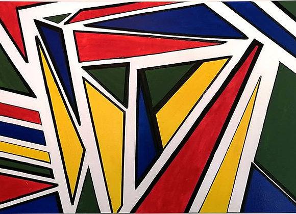 Grande toile art moderne - peinture acrylique