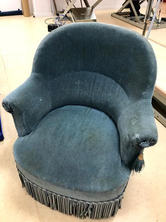 fauteuil crapaud avant réféction