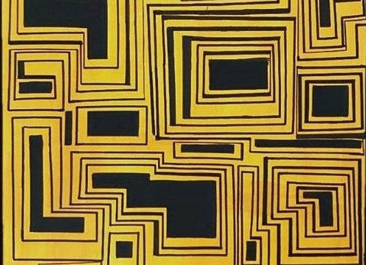 Peinture acrylique sur toile grand format 75*115