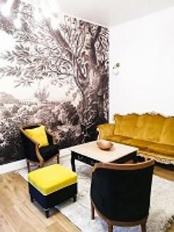 salon suite papier peint