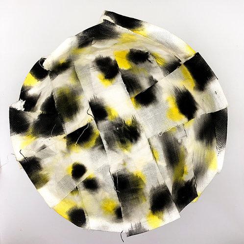 Fabric mache bowl yellow