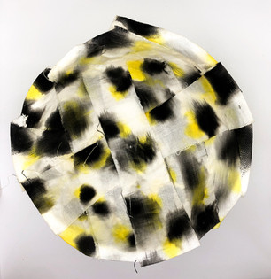 Yellow and black bowl