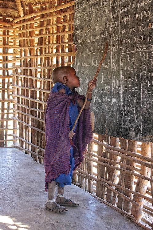 Maasai Kid At School #PP005