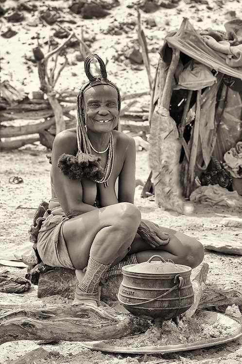 Himba Women Cooking #PP013
