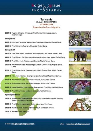 "Safari ""Great Migration"" Juli 2015"