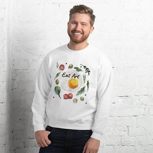 EAT ART: Art on a plate unisex sweatshirt