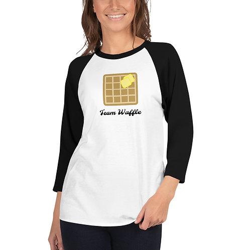 Team Waffle Brunch Shirt 3/4 sleeve raglan shirt