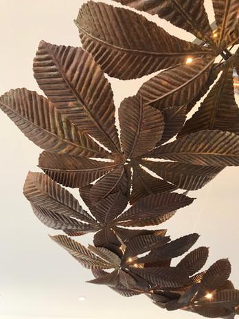 Leaf Ring Pendant in Nickel