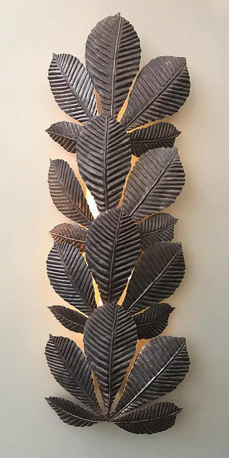 Leaf Wall Light in Nickel