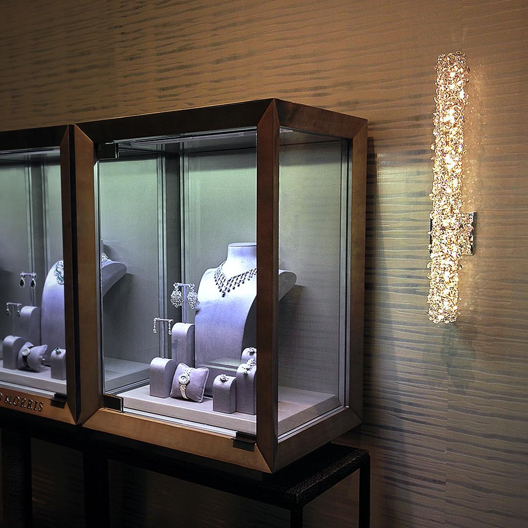 Swarovski Crystal Wall Light at Harrod's