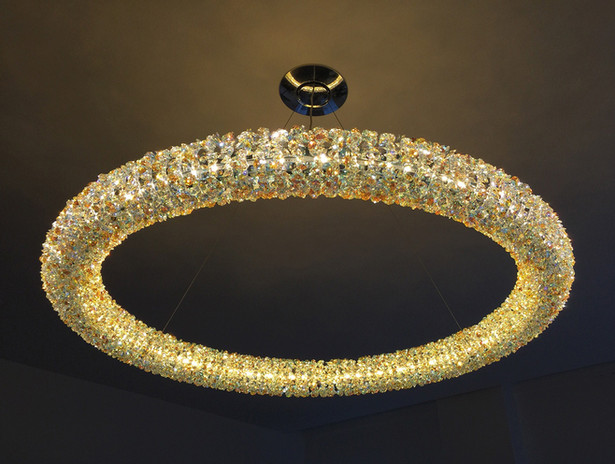 Amber Blue Swarovski Crystal Chandelier
