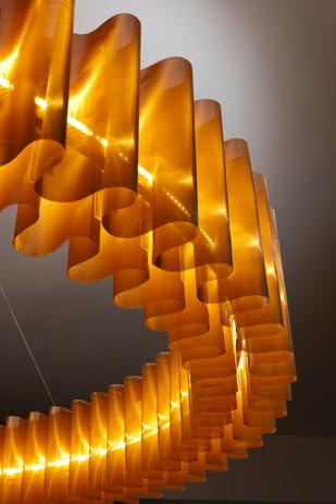 Bronze Mesh Wave Pendant