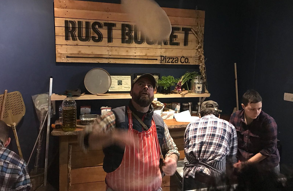 Wood Fired Pizza at Rust Bucket SE18