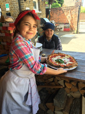 Healthy Kids Preparing Pizza at Rust Bucket PIzza in London