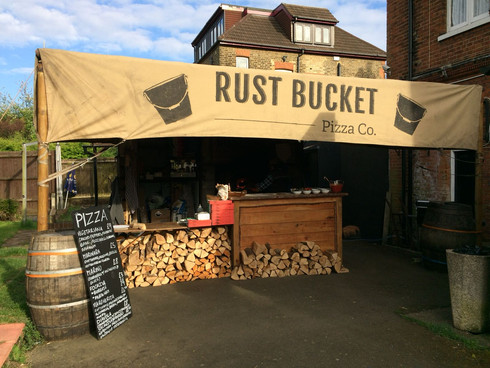 Wood Fired Pizza at Rust Bucket, SE18