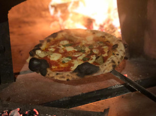 Pizza from the oven at Rust Bucket