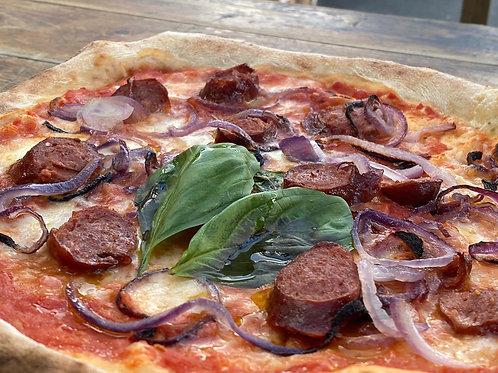 Winter Chilli Sausage Pizza