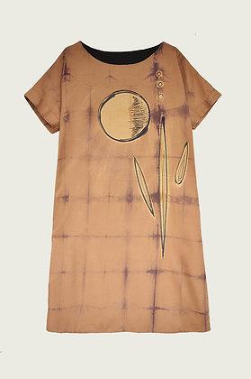 Amber plant/A-line dress/Viscose dress