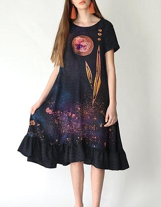 Dark blue dress/Loose dress
