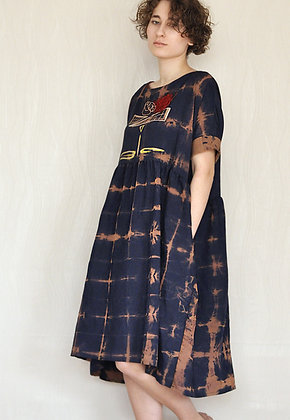 Blueberry/One size dress/ Plus size dress