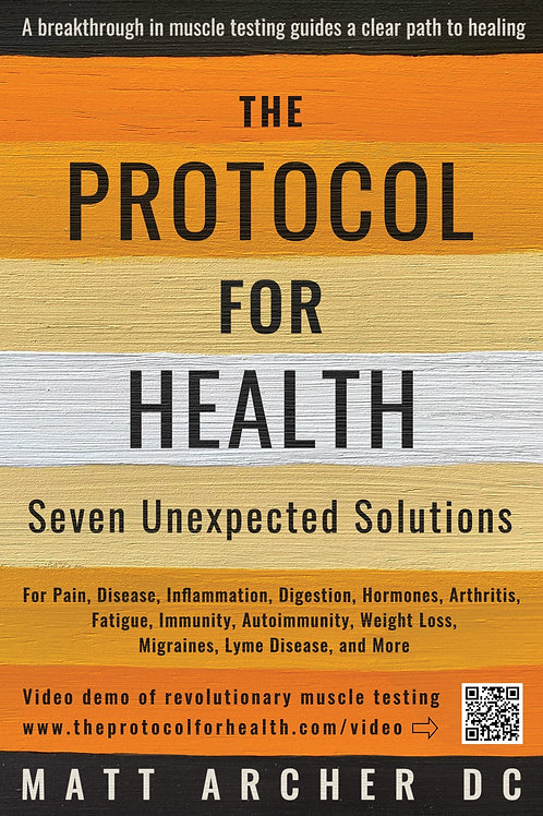 The Protocol for Health (paperback) discount 20% for  3+ and 40% for 8+ copies