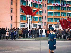 (Fiona) A traffic warden in PyongyangS.j