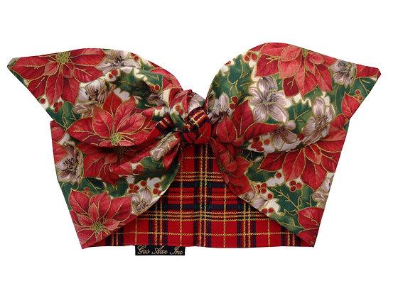Gas Axe Inc 50s Christmas Tartan Head Scarf Tie