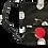 Thumbnail: Black Cherry Polka Dot Face Mask