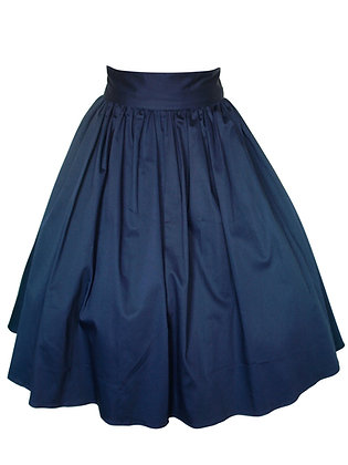 Gas Axe Inc Navy Full Circle 50s Pinup Swing Skirt