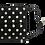 Thumbnail: Black and white polka dot face mask