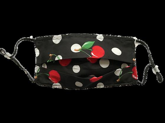 Black Cherry Polka Dot Face Mask