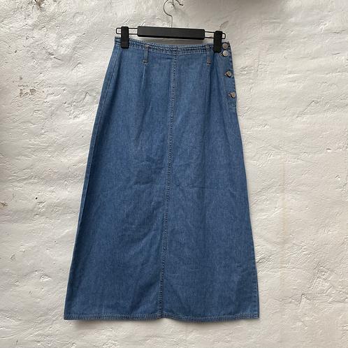 Jupe mi longue en jean, années 2000, TS, Promod