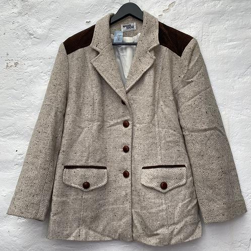 Veste blazer beige, années 80, TM, Machin Chose