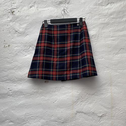 Jupe portefeuille style écossais, années 2000, TS-M, Etam