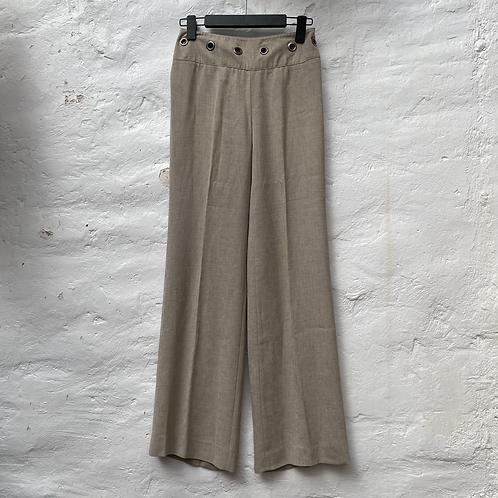Pantalon tailleur beige, années 2000, TS, NafNaf