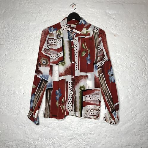 Chemise vintage à motifs