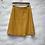 Thumbnail: Jupe style portefeuille mi longue, jaune moutarde, années 90, TM, Un Deux Trois