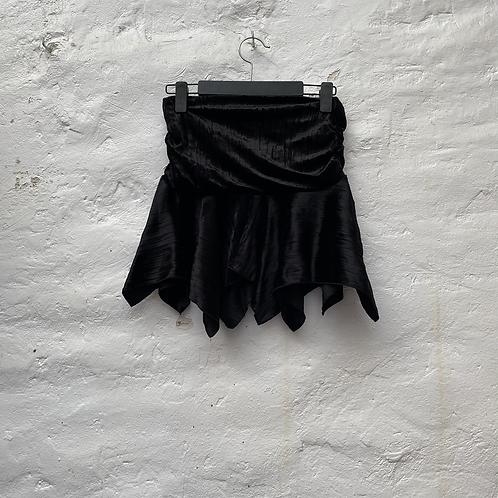 Mini jupe en velours noir, années 2000, TS, Pimkie