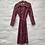 Thumbnail: Robe vieux rose et motif fleuri, années 70, TM