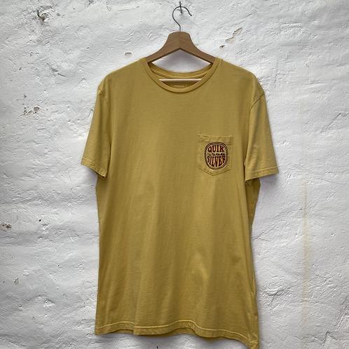 T-shirt jaune moutarde, TM, Quiksilver