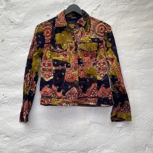Veste en jean motifs orientaux, années 2000, TS, American Angel