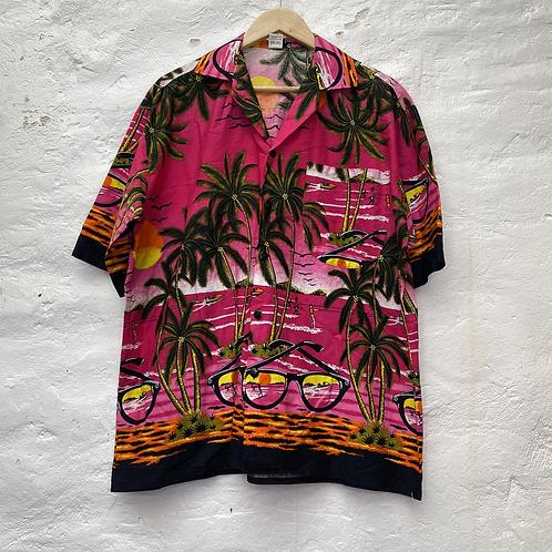 Chemise hawaïenne rose, années 2000, TXL, Luxsport