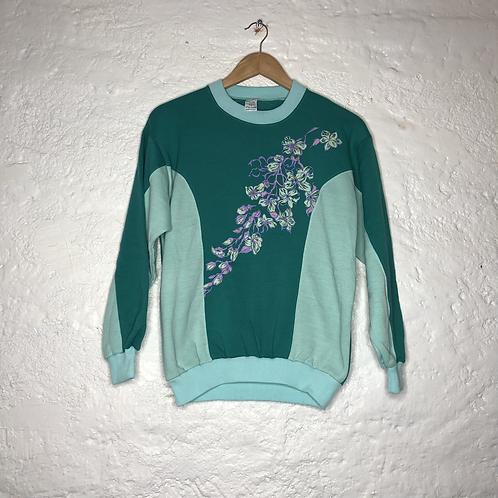 Sweat-shirt vintage à fleur